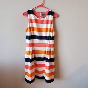 Vince Camuto Sleeveless Striped Dress   Size 10